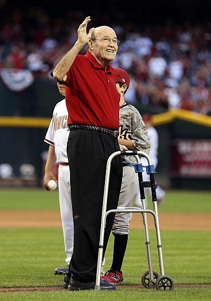 ormer MLB player and announcer, Joe Garagiola