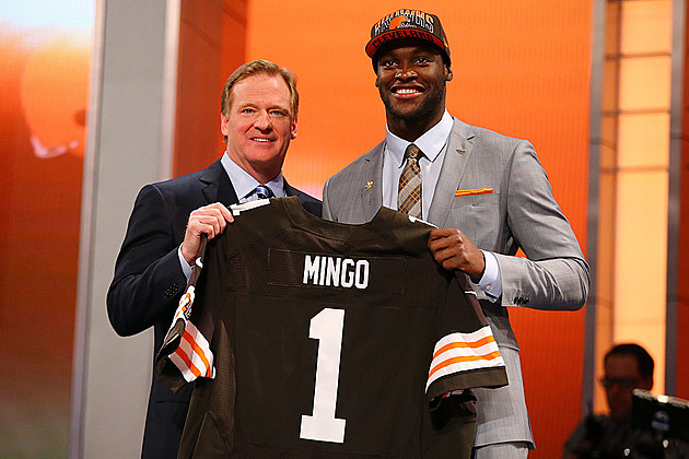 Barkevious Mingo the night he was drafted